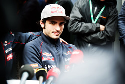 Carlos Sainz Jr., Scuderia Toro Rosso with the media