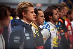 Pastor Maldonado, Lotus F1 Team en la parilla en el himno nacional