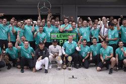 Winnaar Lewis Hamilton en Nico Rosberg, Mercedes
