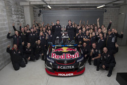 Winners Craig Lowndes and Steven Richards, Triple Eight Race Engineering Holden celebrate with the team