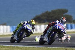 Jorge Lorenzo, Yamaha Factory Racing y Valentino Rossi, Yamaha Factory Racing