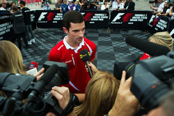 Alexander Rossi, Manor Marussia F1 Team with the media