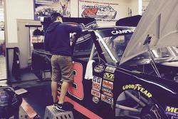 John Hunter Nemechek works on his truck