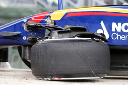 The damaged Scuderia Toro Rosso STR10 of Max Verstappen, Scuderia Toro Rosso, who crashed in the second practice session