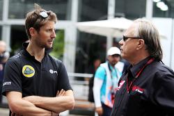 罗曼·格罗斯让,路特斯车队;与吉尼·哈斯,哈斯F1车队老板