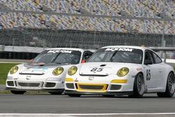 #14 Autometrics Motorsports Porsche GT3 Cup: Cory Friedman, Mac McGehee, Anthony Lazzaro, Ralf Kelleners, #85 Farnbacher Loles Motorsports Porsche GT3 Cup: Chris Bingham, Don Pickering, Bill Cotter, Chris Pennington