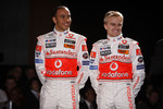 Lewis Hamilton and Heikki Kovalainen