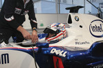 Graham Rahal in the BMW Formula One car
