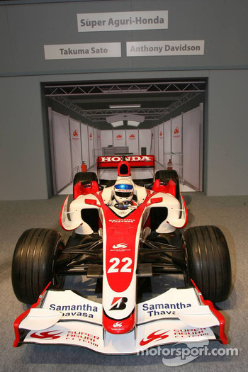Pit lane display, Anthony Davidson, Super Aguri F1 Team