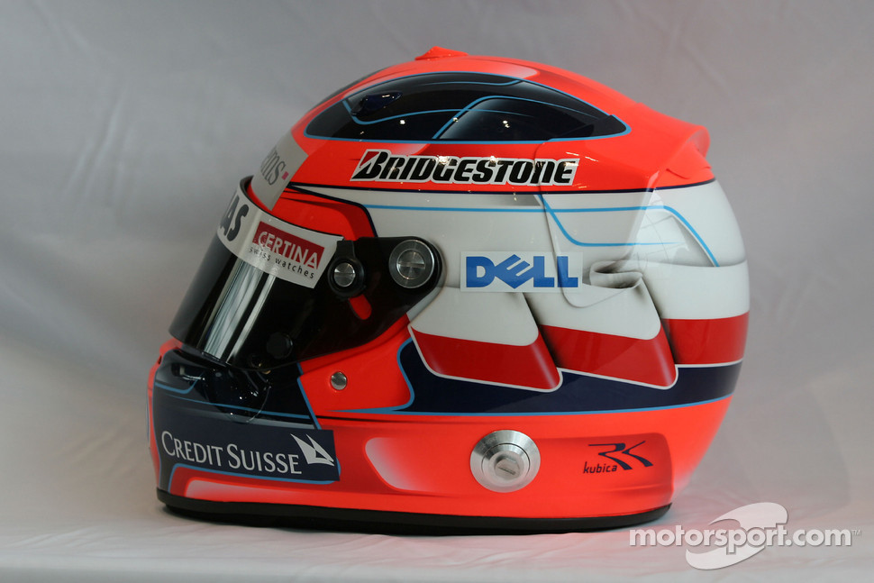 Helmet of Robert Kubica