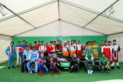 A1GP Driver photo with Think Greener racing Biofuel