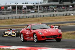 The Ferrari safety car on track