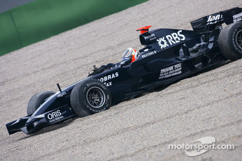 Nico Hulkenberg, Test Driver, Williams F1 Team, FW30 goes out of the track