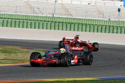 Lewis Hamilton, McLaren Mercedes, MP4-23, Kimi Raikkonen, Scuderia Ferrari, F2008