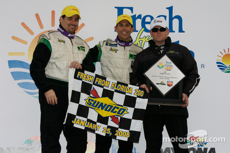 Victory lane: GS and overall winners Craig Stanton and Tim Traver celebrate