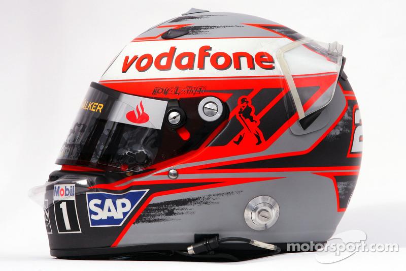 Helmet of Heikki Kovalainen, McLaren Mercedes