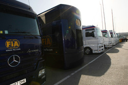 FIA Trucks at F1 Testing
