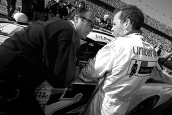 Jacques Villeneuve with crew chief Richard 'Slugger' Labbe