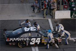 John Andretti pushed on pit road