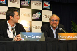 Tony George and Kevin Kalkhoven