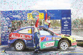 Third place finishers Jari-Matti Latvala and Miikka Anttila