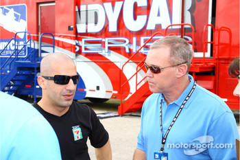 Tony Kanaan and Al Unser Jr.