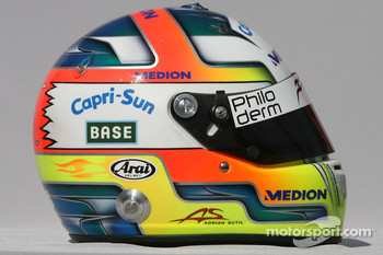 Adrian Sutil, Force India F1 Team, helmet