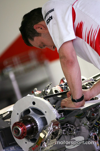 Toyota team mechanic