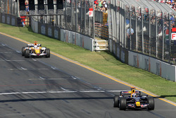 David Coulthard, Red Bull Racing, RB4 and Fernando Alonso, Renault F1 Team, R28