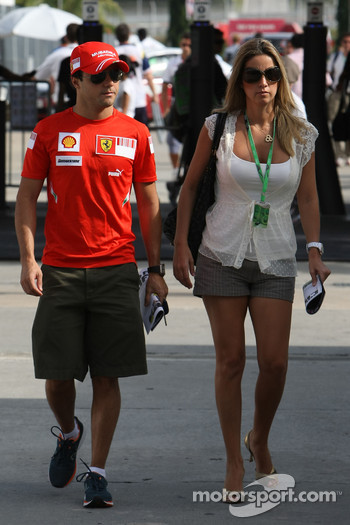 Felipe Massa, Scuderia Ferrari and Rafaela Bassi, Girl Friend, Wife of Felipe Massa