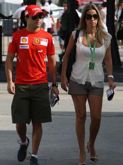 Felipe Massa, Scuderia Ferrari and Rafaela Bassi, Girl Friend, Wife of Felipe Massa