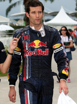 Mark Webber, Red Bull Racing after the qualifying