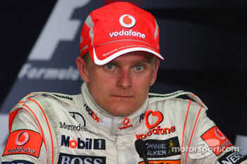 Press conference: third place Heikki Kovalainen