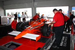 Car of Franck Perera at technical inspection