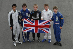 Formula BMW Europe 2008, British Drivers Group Picture