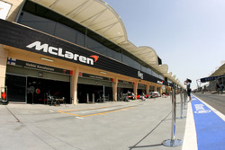 McLaren Mercedes garage