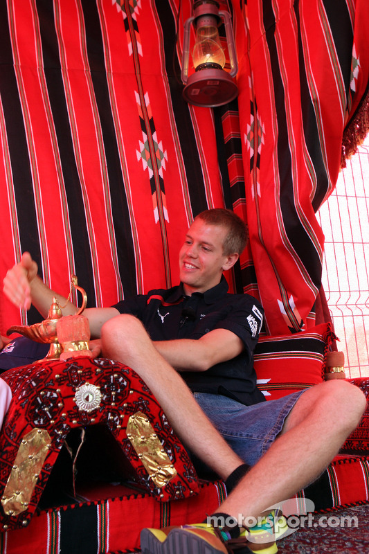 Sebastian Vettel visits Bahrain