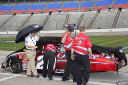 Tony Stewart in the Old Spice Nationwide cup car tries to qualify for the O'Reilly 300 but is stopped by the weather