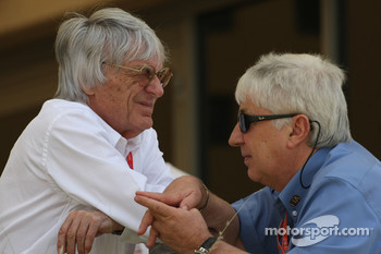 Bernie Ecclestone and Herbie Blash, FIA Observer
