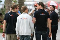 Sebastian Vettel, Scuderia Toro Rosso, Sébastien Bourdais, Scuderia Toro Rosso and David Coulthard, Red Bull Racing