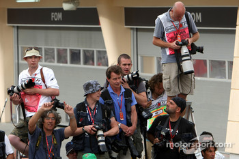 Photographers photograph parc ferme
