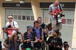 Photographers photograph parc ferme