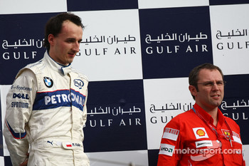 Podium: Robert Kubica and Stefano Domenicali