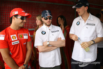 Felipe Massa, Scuderia Ferrari, Nick Heidfeld, BMW Sauber F1 Team and Robert Kubica, BMW Sauber F1 Team