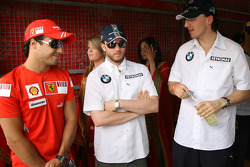 Felipe Massa, Scuderia Ferrari, Nick Heidfeld, BMW Sauber F1 Team and Robert Kubica, BMW Sauber F1 Team