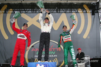 Helio Castroneves, Graham Rahal and Tony Kanaan