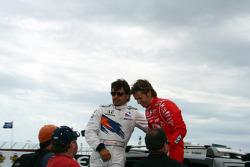 Oriol Servia and Dan Wheldon