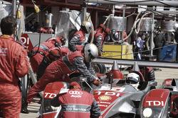 Pit stop for #1 Audi Sport Team Joest Audi R10 TDI: Allan McNish, Rinaldo Capello