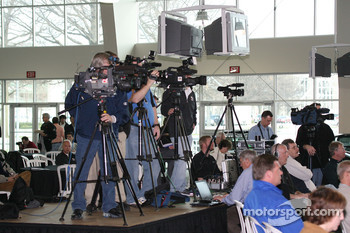 Media members turned out in strong numbers for the Indianapolis 500 Media Tour
