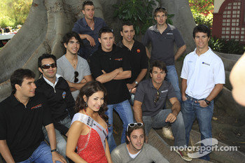 Driver group shot with Miss Toyota Grand Prix of Long Beach
